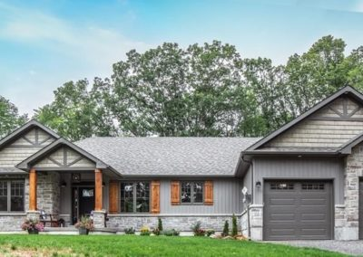 home exterior with double garage